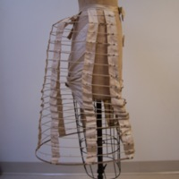Side View of Full Length Bustle Cage