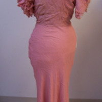 Back View of Pink Dress and Bolero
