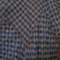Detail View of Blue and White Checked Dress