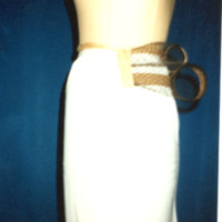 Side View of Small Wire Crescent Bustle Cage