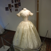 Scale View of Wedding Dress of Margaret A. Heminway