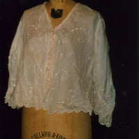 Front View of Short Eyelet Bodice with Lace