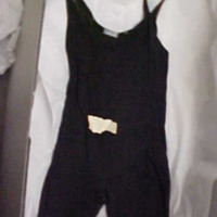 Front View of Black Bathing Suit