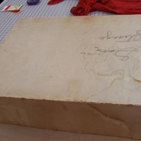 View of Box From Ivory Wedding Dress of Marion Heagan Sauter