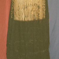Front View of Black Striped Sheer Skirt