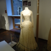 Scale View of Wedding Dress of Muriel Kahn Lampell