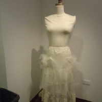 Condition View of Wedding Dress of Gertrude Tomson Fortna