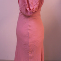 Side View of Pink Dress and Bolero