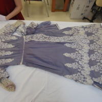 Front View of Lavender Dress with Cream Embroidery