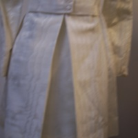 Detail View of 1960's Wedding Mini-Dress