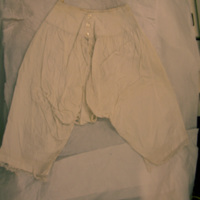 Front View of White Bloomers