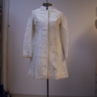 Front View of 1960's Wedding Mini-Dress