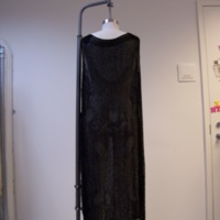 Back View of 1920's Black Beaded Evening Dress