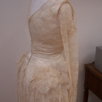 Detail View of 1949 Wedding Dress