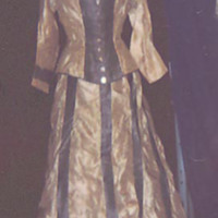 Front View of Blue and white Stripe Day Ensemble