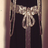 Back View of Beaded Bow Dress