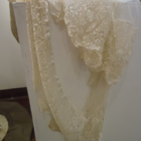 Detail View of Wedding Veil of Hennrietta S. Robinson