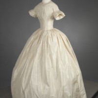 Front View of 1854 Wedding Dress of Margaret A. Hemingway