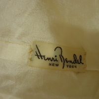 Label View of Wedding Dress of Mary Lee Hartzell