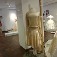 Scale View of Cream Wedding Dress of Leontine Kennedy McPhillips