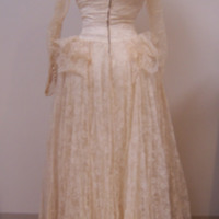 Back View of 1949 Wedding Dress