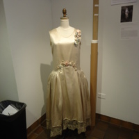 Scale View of Wedding Dress of Gertrude Tomson Fortna