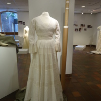 Scale View of Wedding Dress of Leontine Hartzell