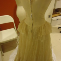 Back View of Wedding Dress of Muriel Kahn Lampell
