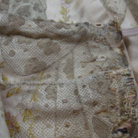View of Condition of Evening Dress with One Shoe