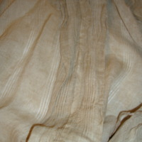 Detail View of Natural Linen Morning Gown