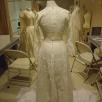 Back View of Wedding Dress of Leontine Hartzell