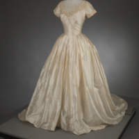 Front View of 1954 Wedding Dress of MaryLee Hartzell
