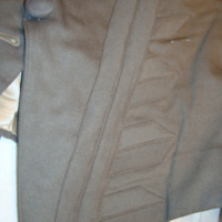 Detail View of Gray Wool Riding Coat