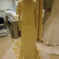 Front view, Wedding Dress of Henrietta S. Robinson