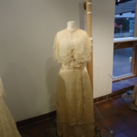 Scale View of Wedding Dress of Beulah May Christ Hummel