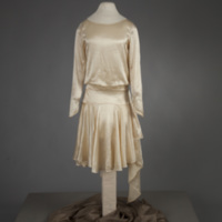 Front View of 1929 Wedding Dress of Leontine McPhillips