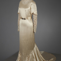 Front View of 1935 Wedding Dress of Henrietta S. Robinson