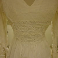 Detail View of Wedding Dress of Leontine Hartzell