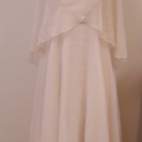 Front View of Wedding Dress with Capelet and Hat