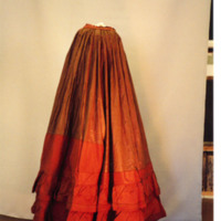 Front View of Brown Polished Cotton Underskirt