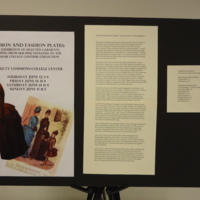 "Photograph of ""Fashion and Fashion Plates: Introduction"" exhibition poster"