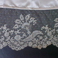 Detail View of Wedding Dress of Gertrude Tomson Fortna