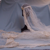 Detail View of Wedding Dress of Ken Robinson's Mother