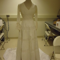 Front View of Wedding Dress of Leontine Hartzell