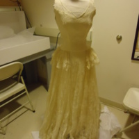 Front View of Wedding Dress of Muriel Kahn Lampell