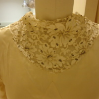 Detail View of Wedding Dress of Hennrietta S. Robinson