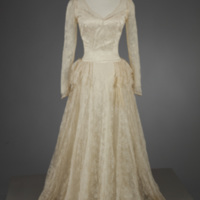 Front View of 1949 Wedding Dress of Muriel Lampell