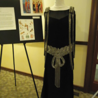 Front view of Beaded Bow Dress