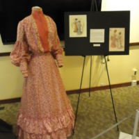 3/4 view of Pink Patterned Dress