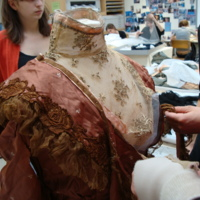 Action View Related to Brown Tea Gown